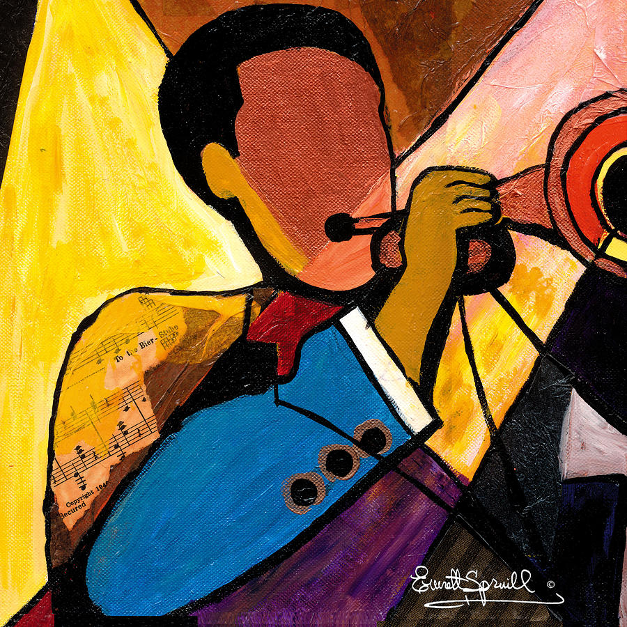 Music Painting - Trip Trio 1 Of 3 by Everett Spruill