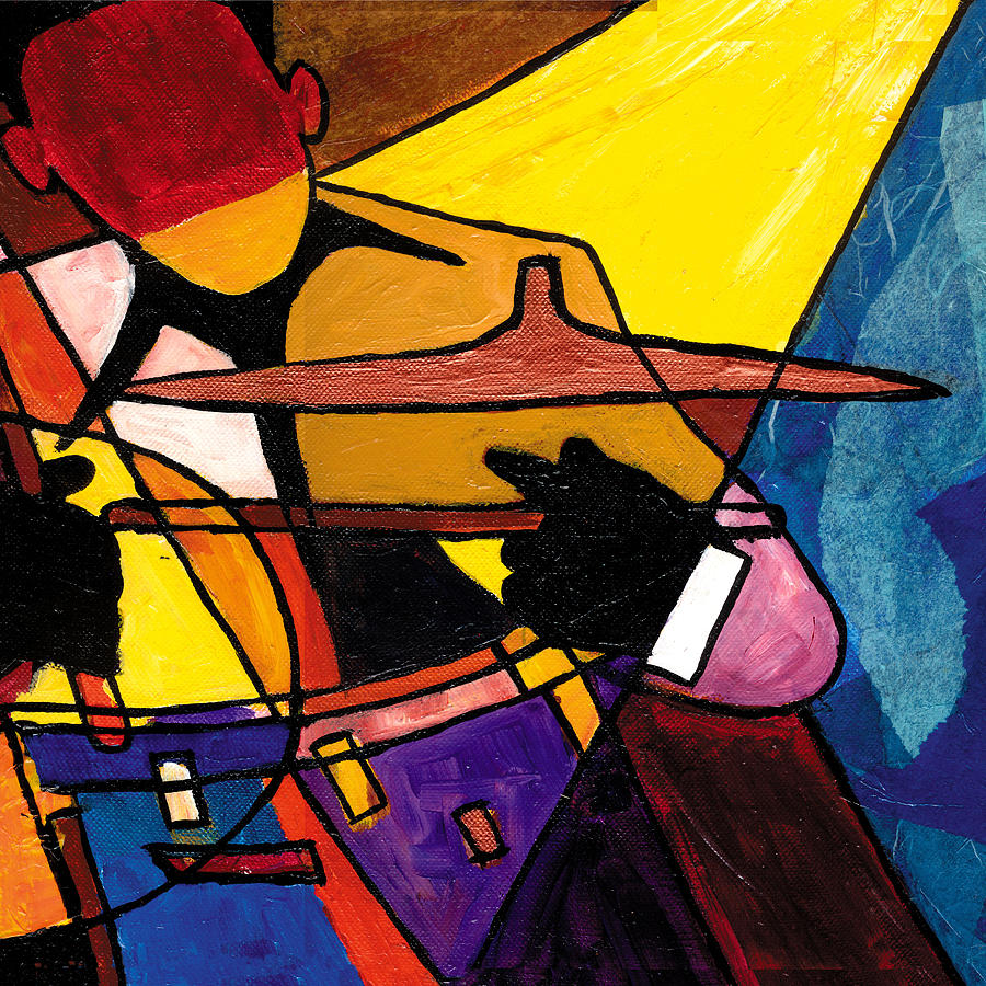 Jazz Art Painting - Trip Trio 3 Of 3 by Everett Spruill