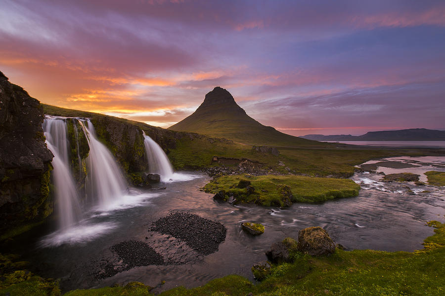 Iceland Photograph - Triple Falls by Joseph Rossbach