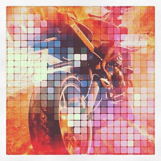 Tiles Photograph - Triple Mosaic! #triumph by Robert Campbell