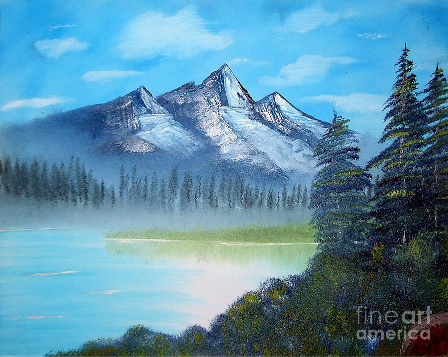 Landscape Painting - Triple Peaks by Dave Atkins