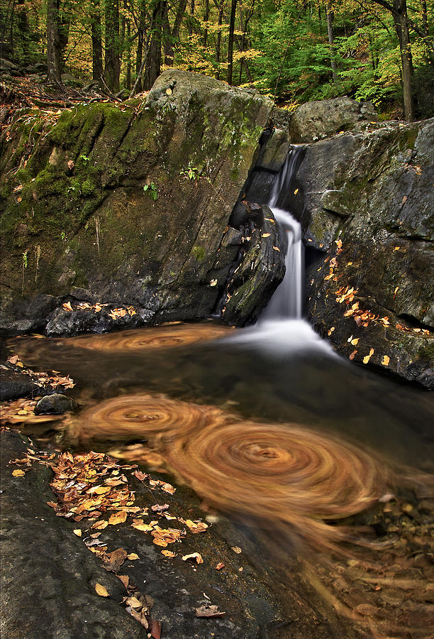 Waterfall Photograph - Triple Swirls by Susan Candelario