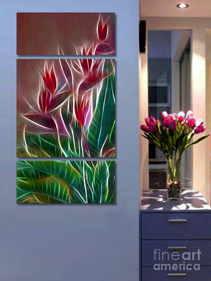 Triptych Photograph - Triptych Display Sample 04 by Peter Piatt