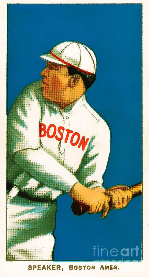 Baseball Card Photograph - Tris Speaker Boston Red Sox Baseball Card 0520 by Wingsdomain Art and Photography