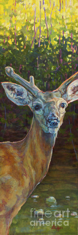Deer Painting - Tristan by Patricia A Griffin