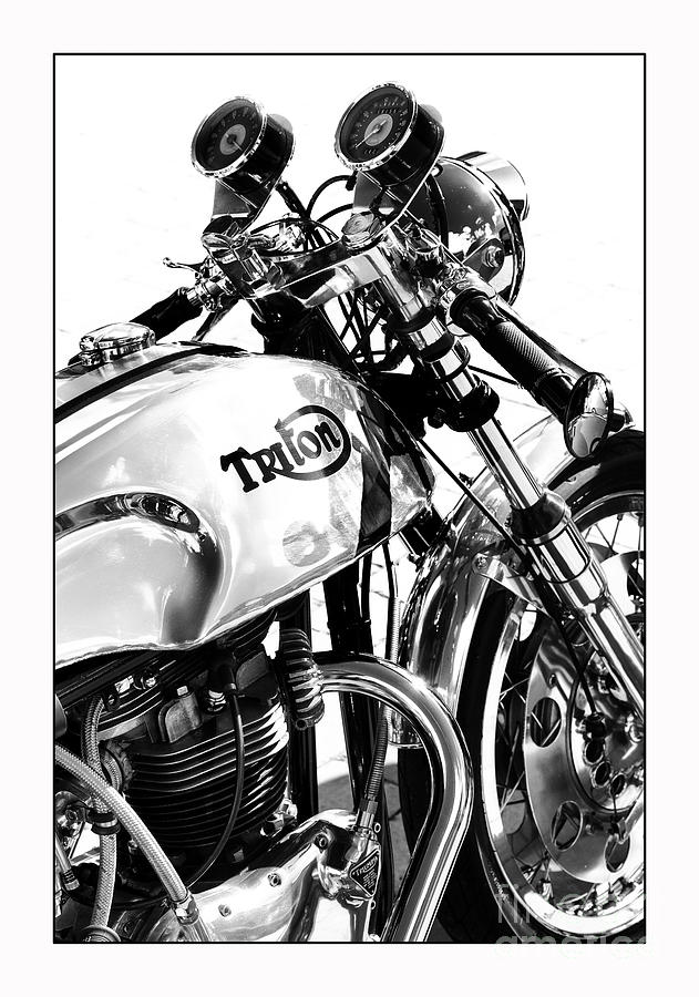 Triton Photograph - Triton Motorcycle by Tim Gainey