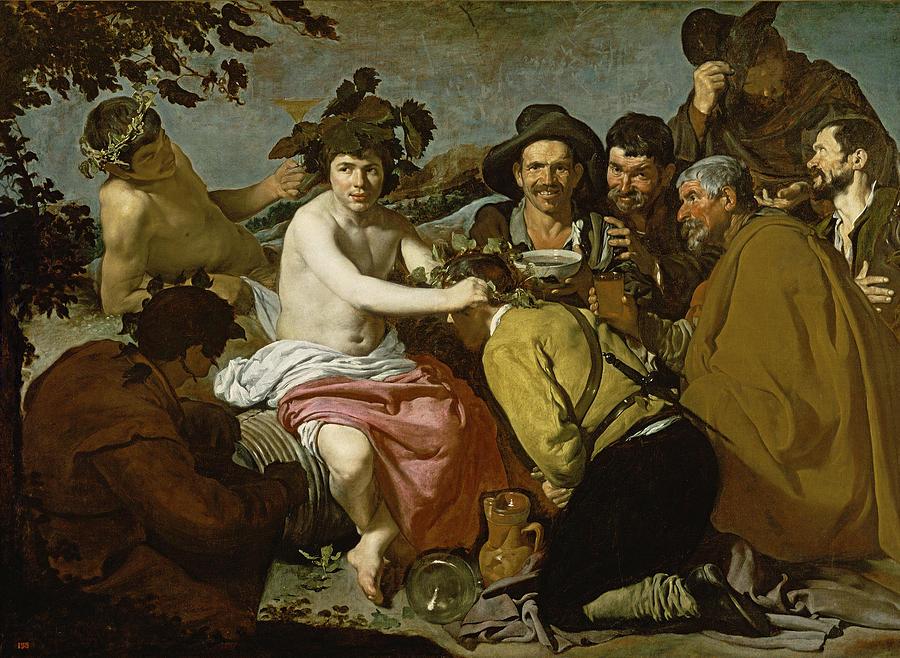 Bacchanalian Photograph - Triumph Of Bacchus, 1628 Oil On Canvas by Diego Rodriguez de Silva y Velazquez