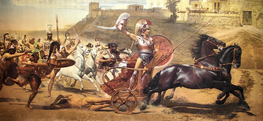 Triumphant Achilles by Franz von Matsch
