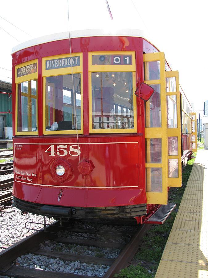 Transportation Photograph - Trolley 458 by Steven Parker