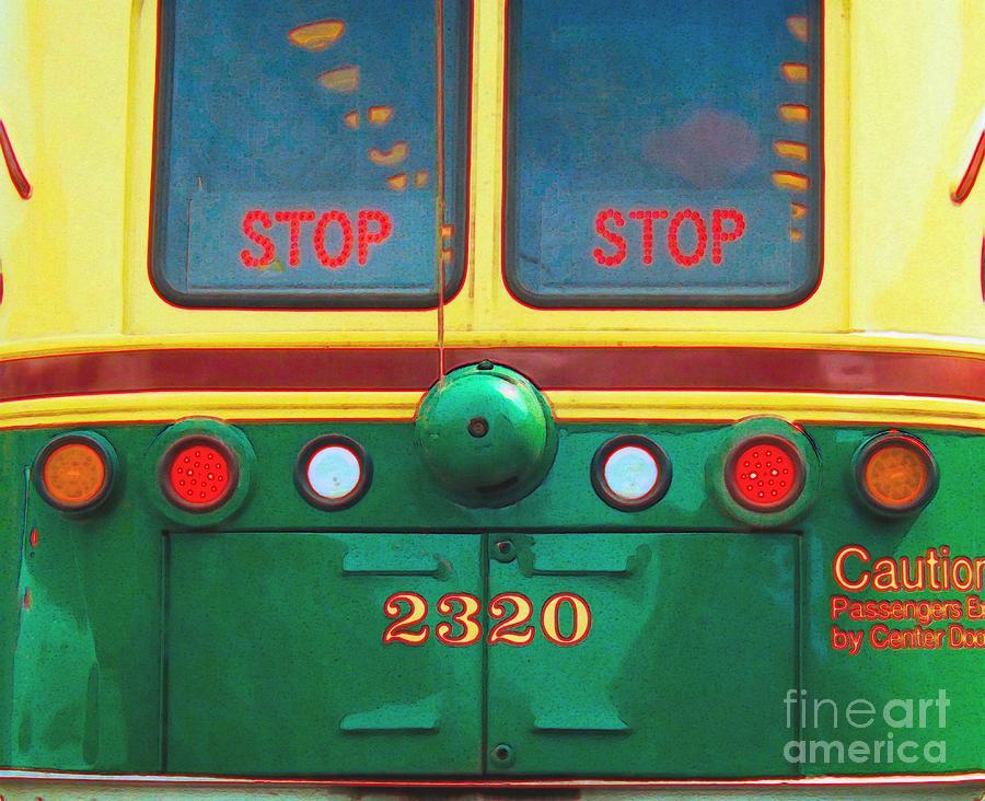 Trolley Photograph - Trolley Car - Digital Art by Robyn King