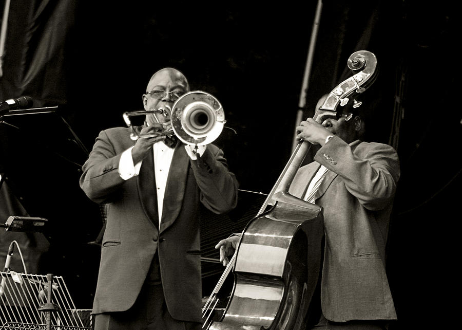 Mayo Photograph - Trombone And Bass by Tony Reddington