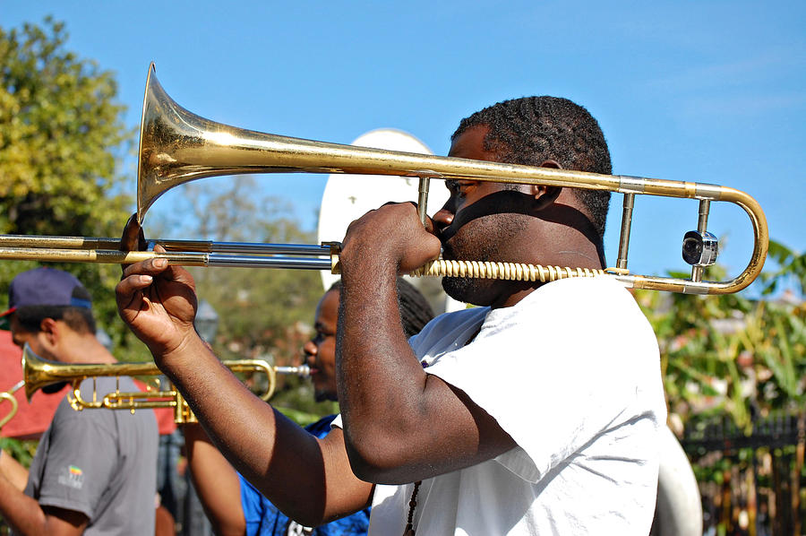 French Quarter Photograph - Trombone Man by Steve Harrington