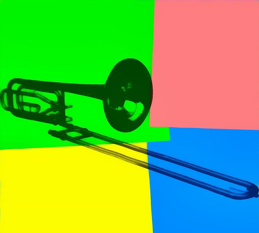 Trombone Pop Art Digital Art