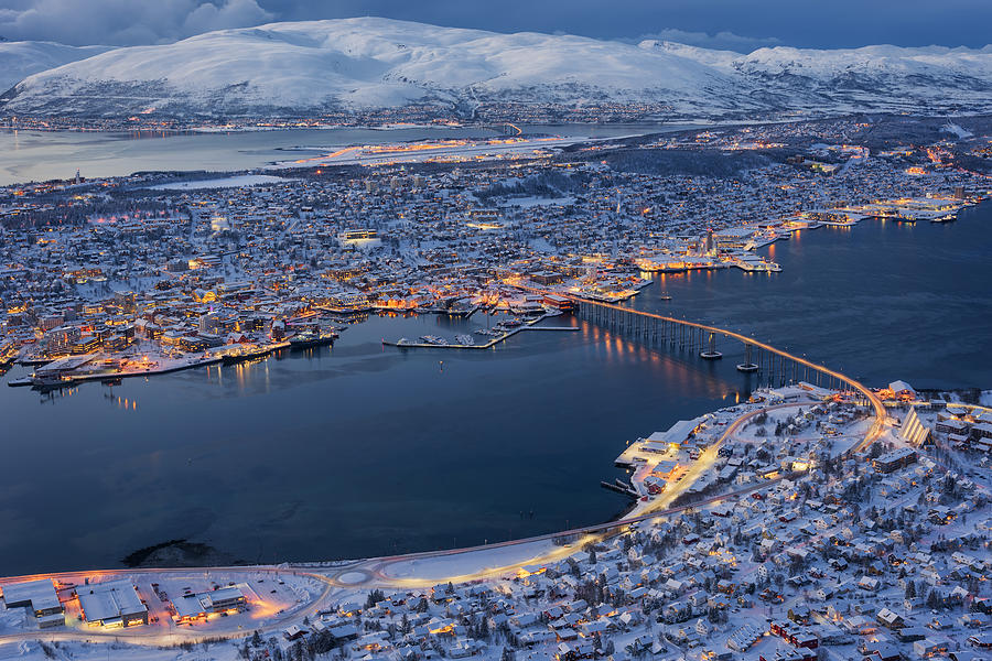 Tromso Cityscape Photograph by Pete Rowbottom