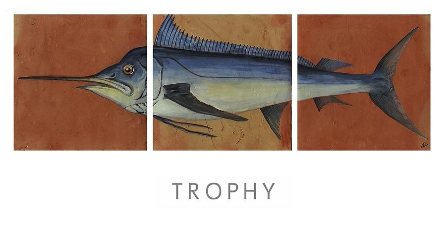 Sport Fishing Painting - Trophy by Andrew Drozdowicz