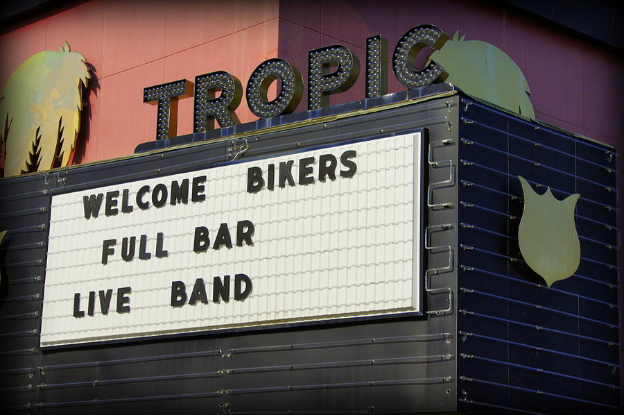 Ride Photograph - Tropic Theatre by Laurie Perry