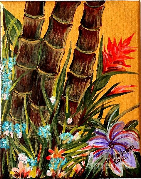 Hawaiian Flowers Painting - Tropical Bamboo by Valarie Pacheco