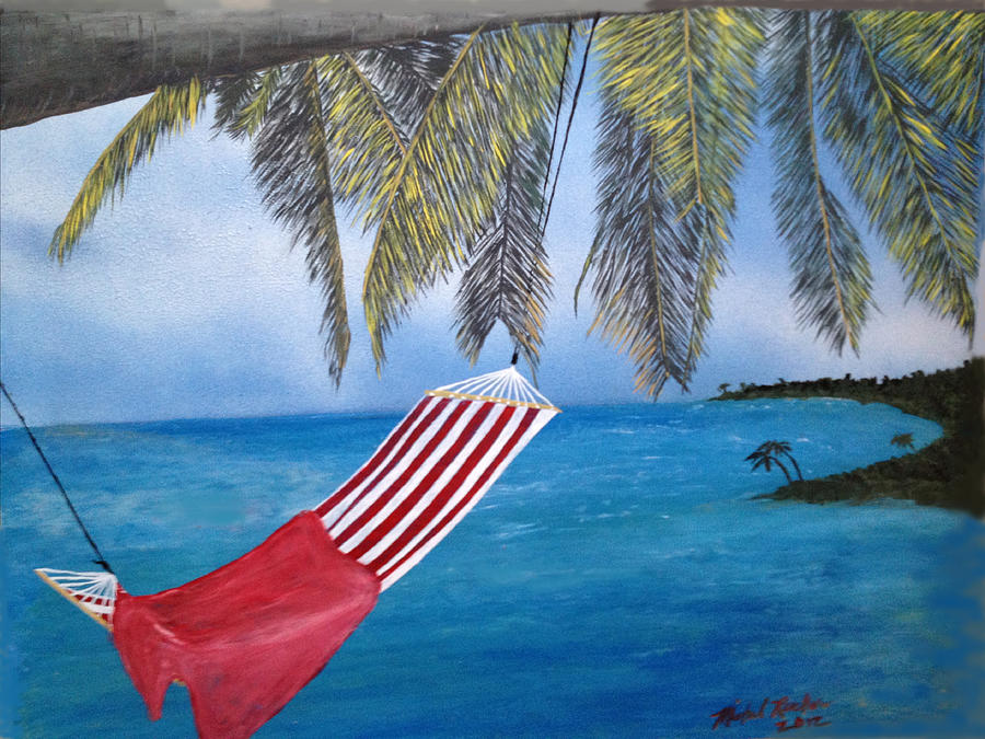 Tropics Painting - Tropical Beach by Michael Rucker