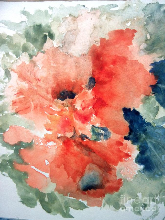 Flowers Painting - Tropical Bliss by Trilby Cole