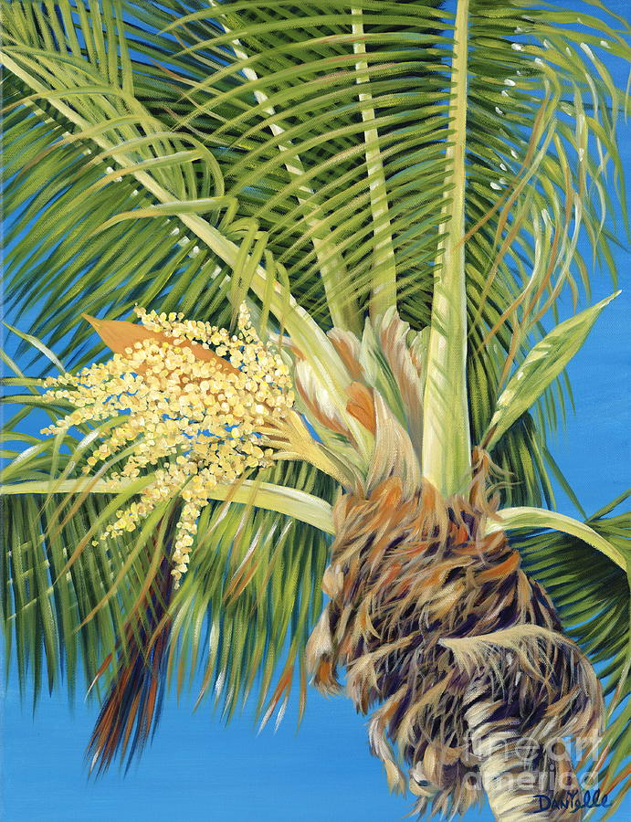 Palm Tree Painting - Tropical Bloom by Danielle  Perry