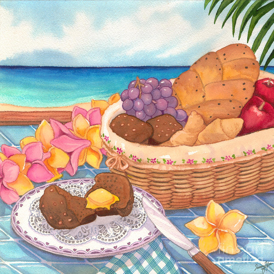 Dining Painting - Tropical Breakfast by Tammy Yee