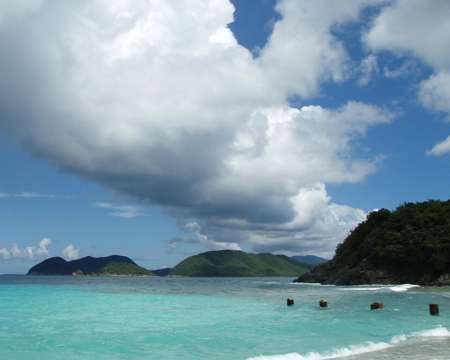 Beach Photograph - Tropical Cloud Band by Russell  Anderson