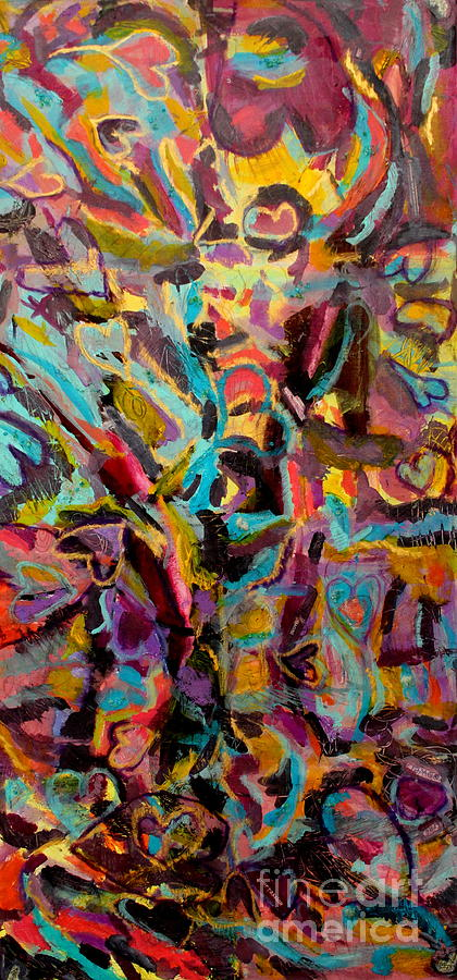 Purple Abstract Mixed Media - Tropical Energy by Kelly Athena