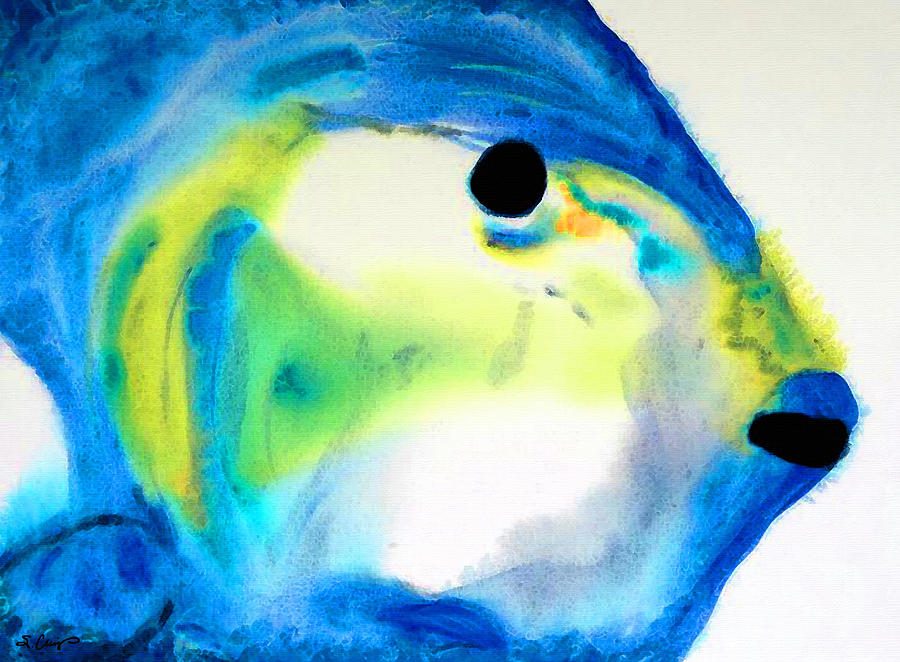 Parrot Fish Painting - Tropical Fish 3 - Abstract Art By Sharon Cummings by Sharon Cummings