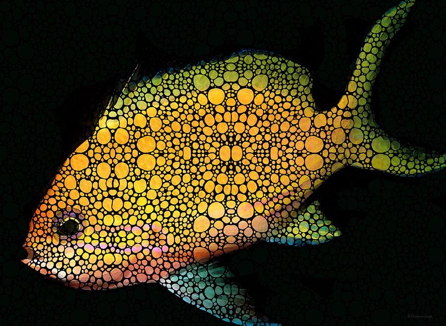Fish Painting - Tropical Fish Art 14 By Sharon Cummings by Sharon Cummings