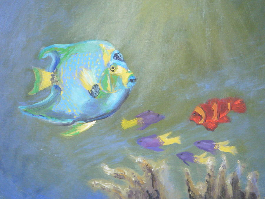 Tropical Painting - Tropical Fish by Patricia Kimsey Bollinger