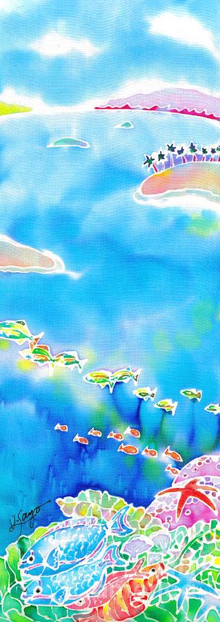 Okinawa Painting - Tropical Fishes by Hisayo Ohta