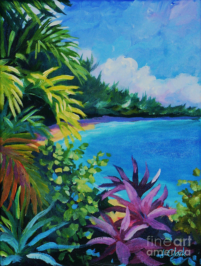 Tropical Flora Painting By John Clark