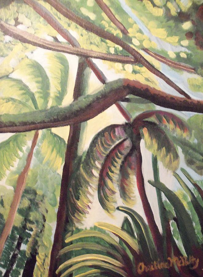 Sun Painting - Tropical Forest by Christine McNulty