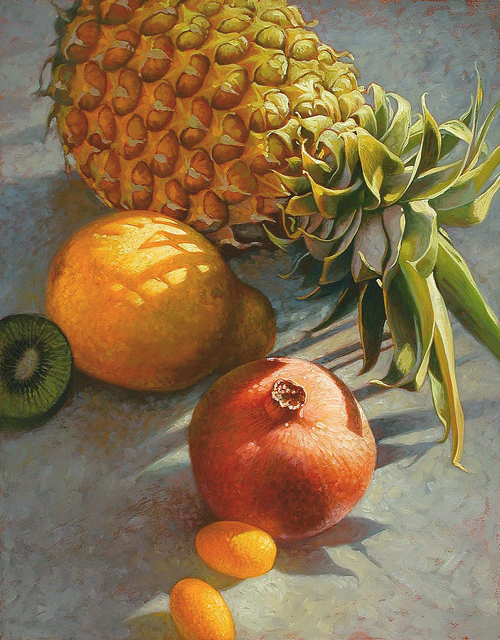 Still Life Painting - Tropical Fruit by Mia Tavonatti