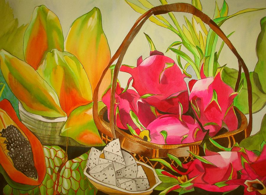 Fruit Painting - Tropical Fruit by Sacha Grossel