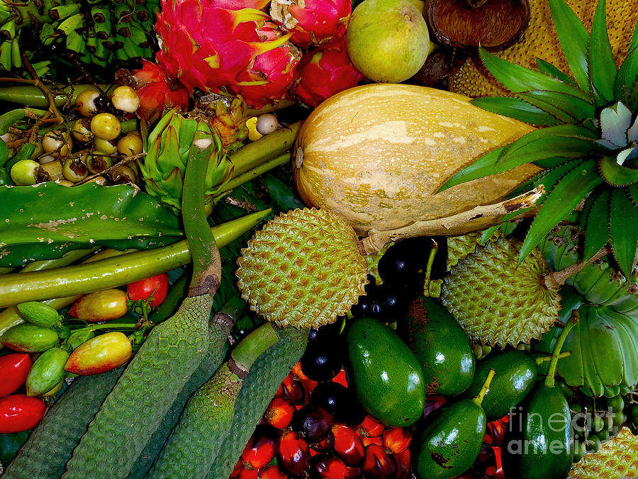 Tropical Photograph - Tropical Fruits by Carey Chen