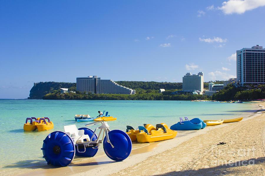 Tumon Bay Photograph - Tropical Fun At The Beach In Tumon Bay Guam by Beverly Claire Kaiya