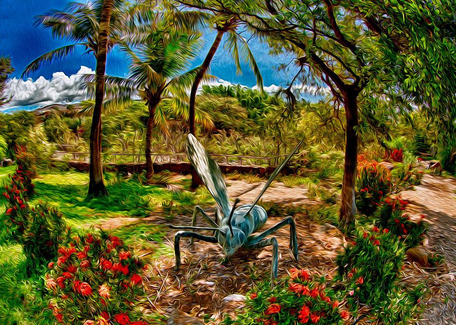 Tropical Garden Painting - Tropical Garden by Omaste Witkowski