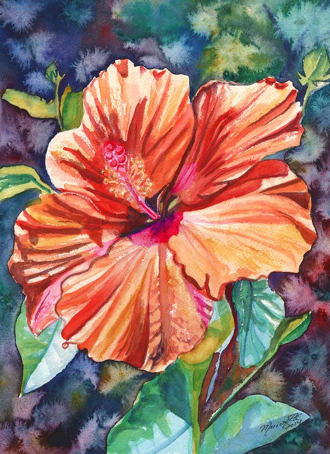 Hibiscus Painting - Tropical Hibiscus 5 by Marionette Taboniar
