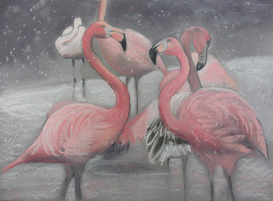 Flamingo Pastel - Tropical Ice by Sherri Anderson