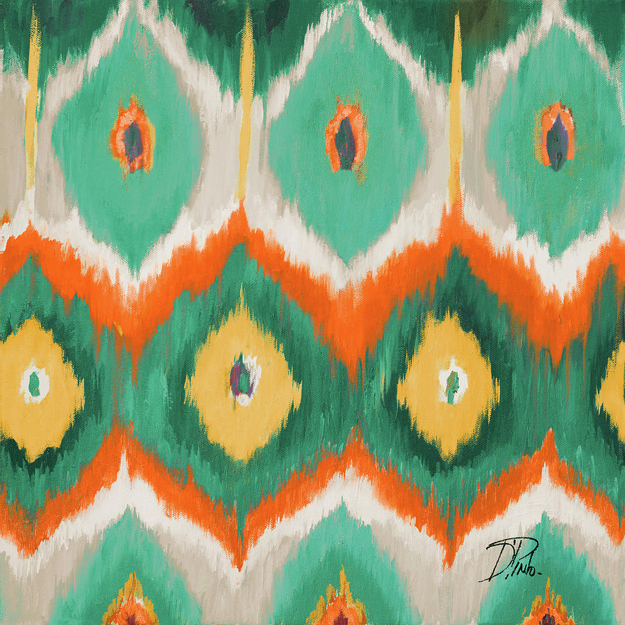 Tropical Painting - Tropical Ikat II by Patricia Pinto