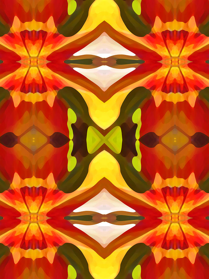 Abstract Painting - Tropical Leaf Pattern  11 by Amy Vangsgard
