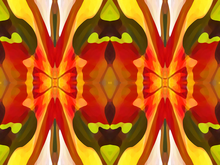 Abstract Painting - Tropical Leaf Pattern 13 by Amy Vangsgard