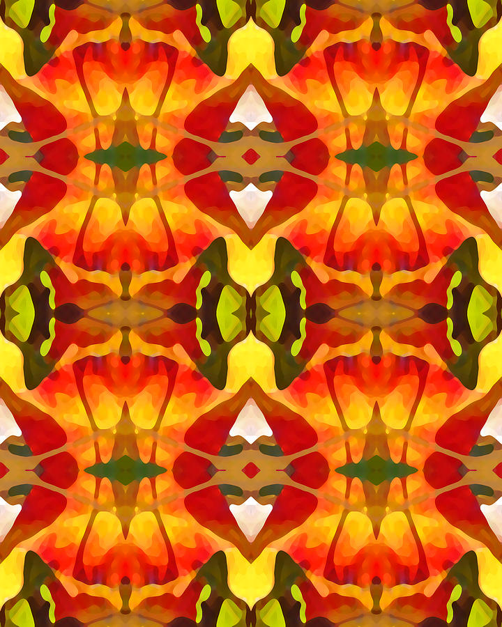 Abstract Painting - Tropical Leaf Pattern 8 by Amy Vangsgard