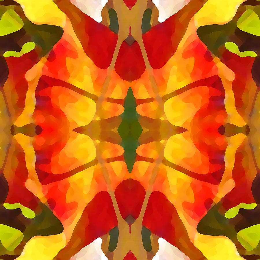 Abstract Painting - Tropical Leaf Pattern5 by Amy Vangsgard