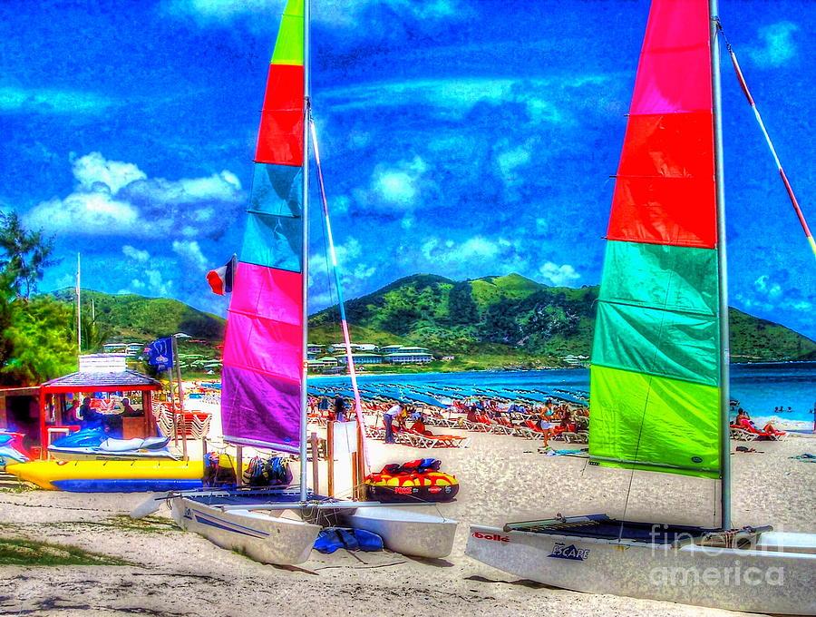 Sailboats Photograph - Tropical Sails by Debbi Granruth