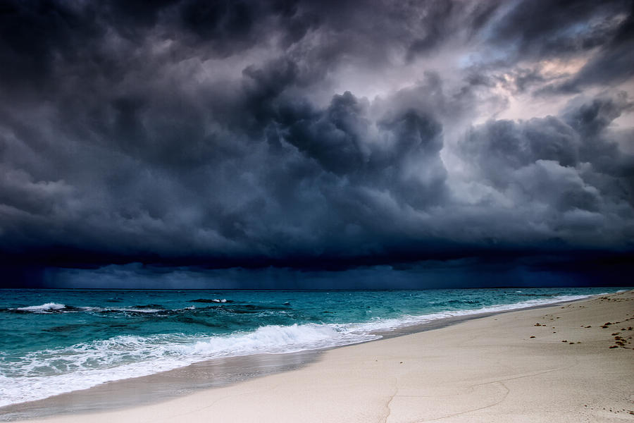 Tropical Storm Over The Caribbean Sea Photograph by Stevegeer