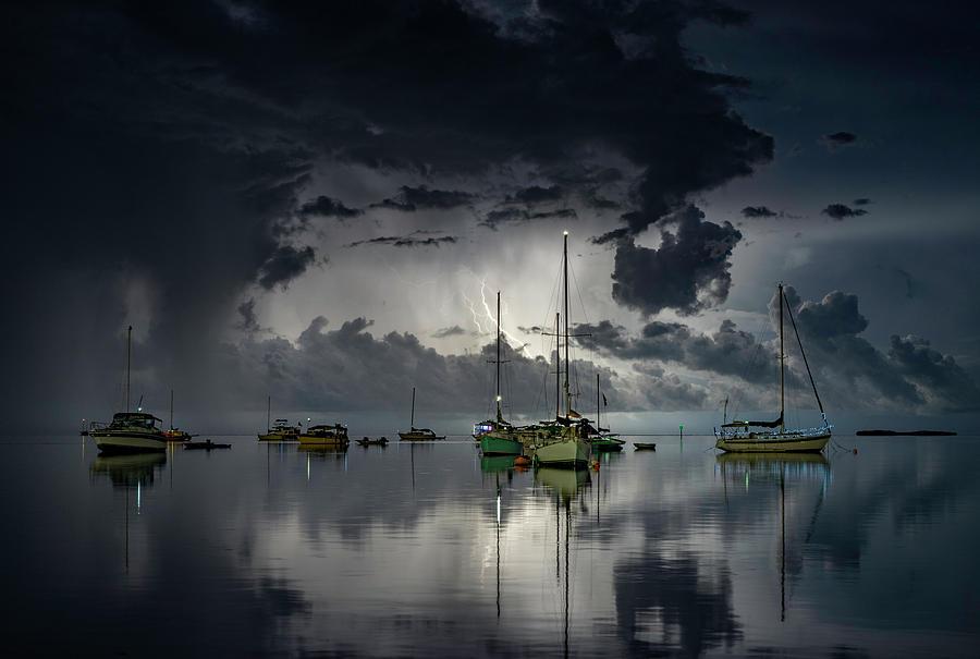 Boat Photograph - Tropical Storm2 by Alexandru Popovski