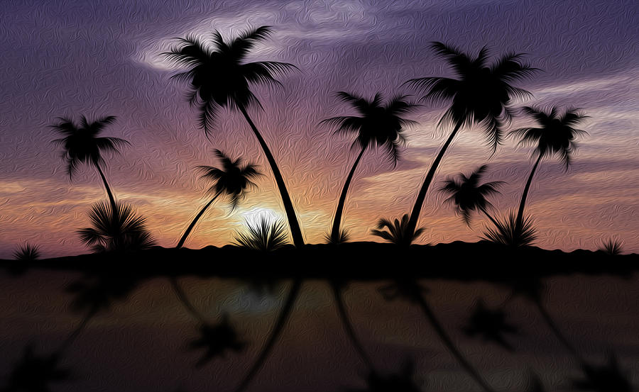 Sunset Photograph - Tropical Sunset by Aged Pixel