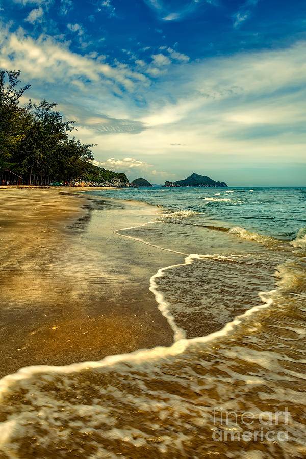 Hdr Photograph - Tropical Waves by Adrian Evans